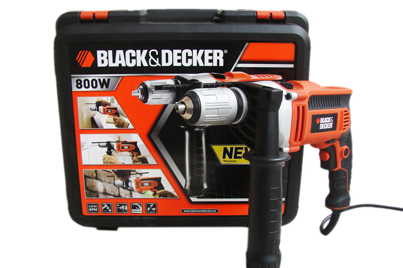 kr805 black decker bohrhammer bohrmaschine 800w schlagbohrmaschine kr805k ebay. Black Bedroom Furniture Sets. Home Design Ideas